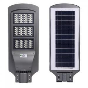 China LED solar street lamp Street Light 6500K light control + radar sensor Lens on sale