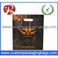 China LDPE / CPE Raw Die Cut Handle Plastic Bags Black Color For Apparel wholesale