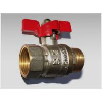 China butterfly handle brass ball valve male+female wholesale
