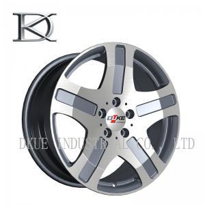 China Benz Mercedes Replica Reproduction Wheels Alloy Rims 5 Holes Black Machine / Sliver lip wholesale