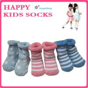 China Newest infants socks,jacquard pattern kids socks,warm terry baby socks on sale