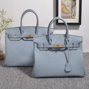 China high quality 35cm women light blue Togo leather handbags fashion brand handbags designer handbag H-Y37 wholesale