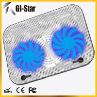 China Two fans ABS+metal materials laptop coolers, notebook cooling pad wholesale