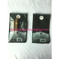 China custom made printed plastic cigar packaging bag / cigar humidor bag with slid zip lock wholesale