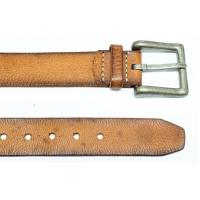 China Casual Comfortable Vintage Leather Belt 100 - 120 CM Length Long Life Span wholesale