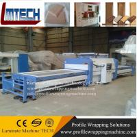 China pvc door vacuum membrane press machine for kitchen cabinet door making wholesale