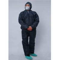 Buy cheap Disposable 75g/㎡ PP Biosecurity Coverall for Hospital Doctor from wholesalers