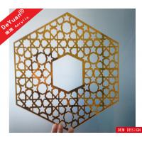 China Home Decoration Golden Mirror Acrylic Sheet Wall Sticker Laser Cutting wholesale