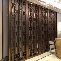 China bronze color Metal Room Divider Screen Partition for hotel room decoration wholesale