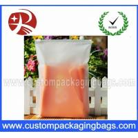 China Customized CPE Half Clear Frosted Plastic Ziplock Bags for Cothes Packing wholesale