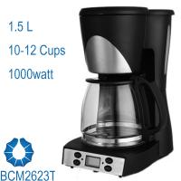 China 10-Cup Drip Coffee Maker stream line design in black BCM2623T wholesale