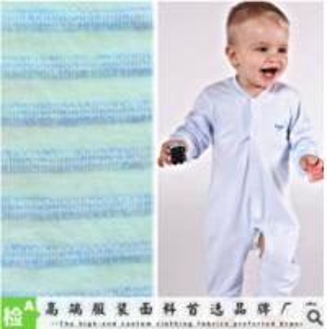 China YARN-DYED BABY CLOTHING FABRIC NATURAL SOFT YARN-DYED COLOUR COTTON  KNITTING FABRIC wholesale