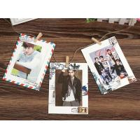 China 6inch vintage style hanging paper photo frame wholesale stamped paper wholesale
