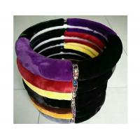 China Winter Warm Fuzzy Car Steering Wheel Covers M Size SGS Certification on sale