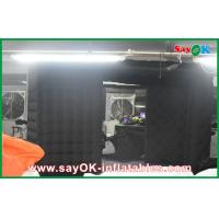 China Black Big Quadrate Strong Oxford Cloth Photobooth , Large Inflatable Photo Booth wholesale
