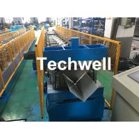 China Customized Cold Roll Forming Machine With Manual Decoiler For Making Roof Ridge Cap , Ridge Flashing wholesale