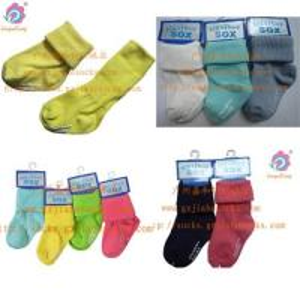 China Baby socks knitting socks factory rib cotton Cute baby socks non-slip wholesale