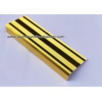 China L Shaped Straight Edge Aluminum Stair Nosing With Good Slip Resistance wholesale
