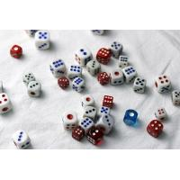 China Colorful Plastic 8 / 10 / 12 / 14mm Casino Games Dice For Betting Games Cheat wholesale