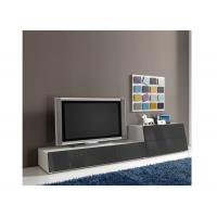 China Entertainment Wall Units For Flat Screen Tv , Grey High Gloss Tv Media Stand  wholesale