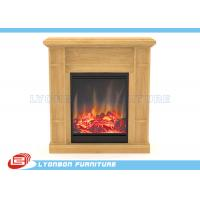 China Solid Wood Veneer MDF Home Decor Fireplaces With Paint Finished / 905mm * 255mm * 970mm on sale