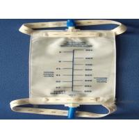China Disposable 3T tap valve 1000ml / 1500ml / 2000ml Urine Bag for leg on sale