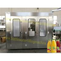 China 6000B/H Capacity Glass Bottle Non-Carbonated Soft Drinks / Juice Monoblock Filler And Capper on sale