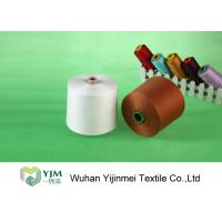 China Raw White  Polyester TFO Yarn Good Elasticity For Sewing By Hand / Machine wholesale