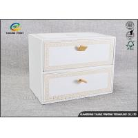 China White Luxurious Cardboard Display Stands Embossing Printing For Goods Packaging wholesale