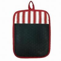 China Pot Holder with Silicone and Pocket, Various Colors Available wholesale