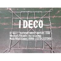 China Lifting Galvanized Wire Rope Web Netting, Safety Steel Wire Rope Cargo Nets, Sling & Rigging Mesh wholesale
