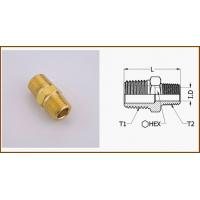 China Equal Hexagon Yellow Brass Nipple Fittings / Male Adapter / Copper Pipe CNZN39PB3 wholesale