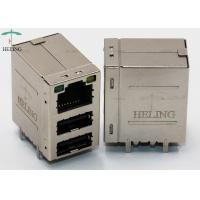 Buy cheap Side Entry RJ45 Modular Jack USB Stacked Connector MU88-B031-CRL101 from wholesalers
