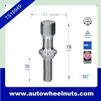 China Zinc plated 12mm * 1.50 wheel lug bolts for Mercedes Benz 26mm thread length wholesale