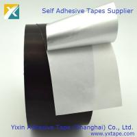 China Black aluminium foil tape with adhesive   duct work tape  duct foil tape black aluminum sealing tape  furnace duct tape on sale
