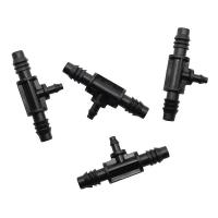 Quality Reducing Tee Barb Connector Drip Irrigation Connectors 3/8 Inch - 1/4 Inch for sale