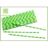 China Eco - Friendly Bamboo Paper Straws , Birch Wood Design Green Decorative Paper Straws wholesale