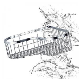 China Bathroom Accessory Corner Basket Shelf Stainless Steel Easy Installation on sale