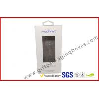 China offset print paper box Card board packaging box with clear PVC window wholesale