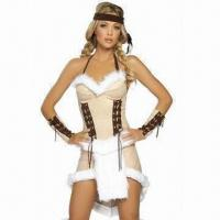 China Princess sexy party/fancy costumes for women with headband/armband, made of acrylic and spandex wholesale