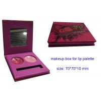 China 2 colors Lip Palette Boxes with Mirror, Paper Pink Cosmetic Packaging Boxes , Cosmetic Mak wholesale