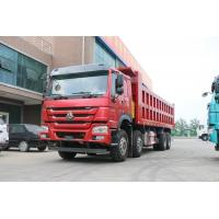 China Sinotruk Howo 8x4 380hp 12 Wheel Dump Truck 25 Cubic Meters With Good Fuction ,In Red Color on sale