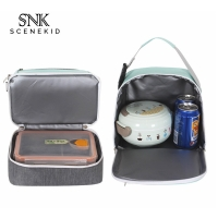 China Insulated Fitness Keep Warm Nylon Meal Storage Double Lunch Bag on sale