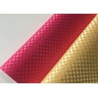 China Silk Weave PVC Leather Fabric Plain Colorful Environmental Protection wholesale