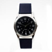 China Stainless Steel Case Mens Black Leather Strap Watches Calendar wholesale