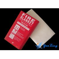 China Soft Silicone Coated Fire Blanket  / Welding Protection Blanket Easy To Carry wholesale