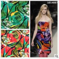 China Fabric jumpsuit group Snow silk knitted silk high elastic fabric digital printing wholesale