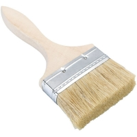 China Flat Wooden Handle Bristle Hair Lacquer Brush on sale