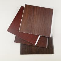 China Dark Wooden Color PVC Wall Panels , Pvc Wall Cladding For Hotel Or Home wholesale
