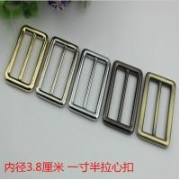 China New product 38 mm hanging brush anti brass color zinc alloy metal slide adjustable buckles for bag hardware wholesale